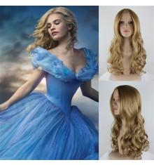 Disney Princess Cinderella Long Curly Hair Cosplay Wig
