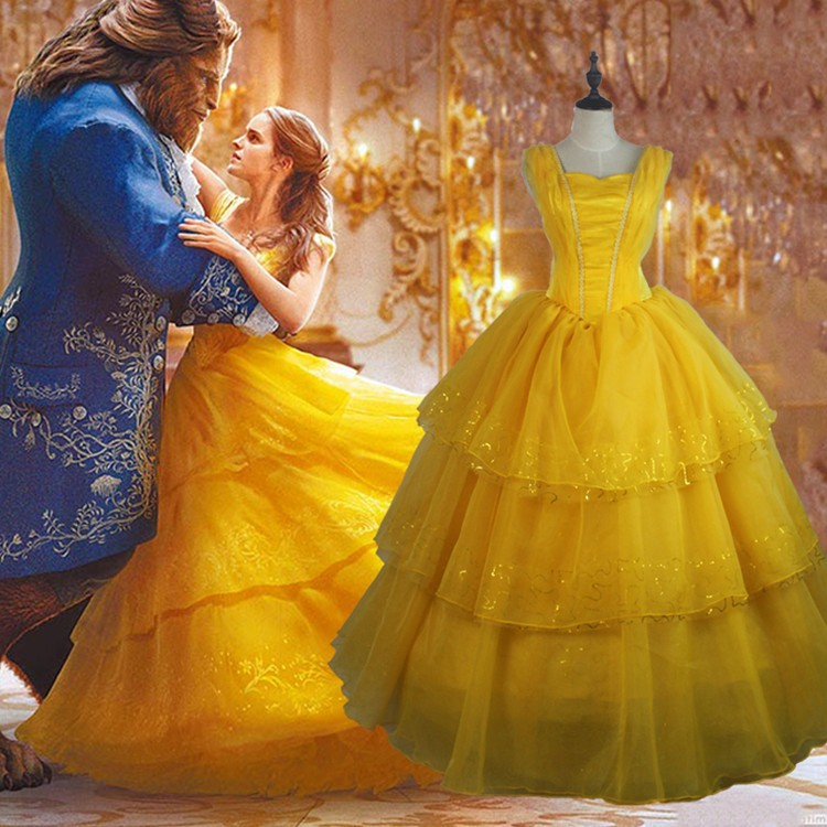 2017 Beauty and The Beast Princess Belle Dress Emma Watson Belle Dress