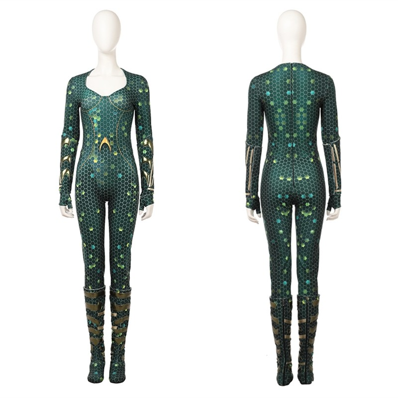 2018 Aquaman Mera Cosplay Costume Deluxe Jumpsuit