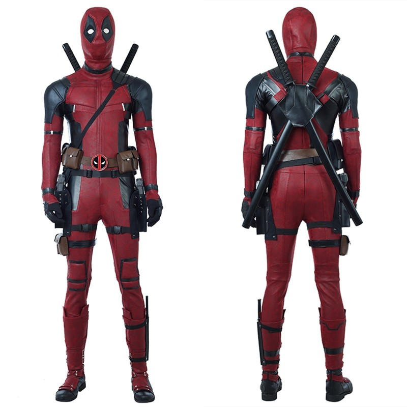 2018 Deadpool 2 Costume Wade Wilson Cosplay Costume - Deluxe Version