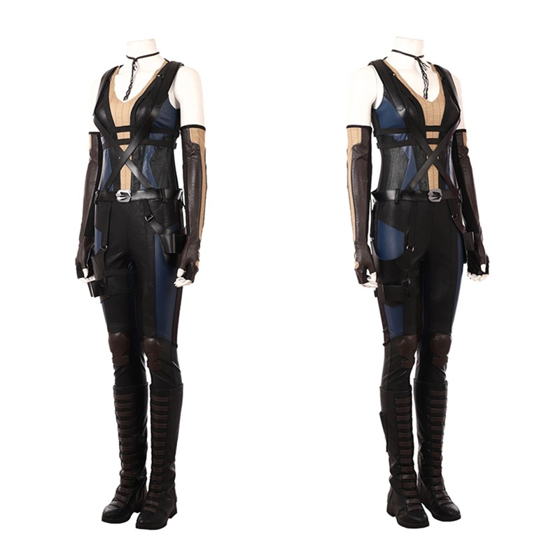 2018 Deadpool 2 Domino Costume Neena Thurman Cosplay Costume
