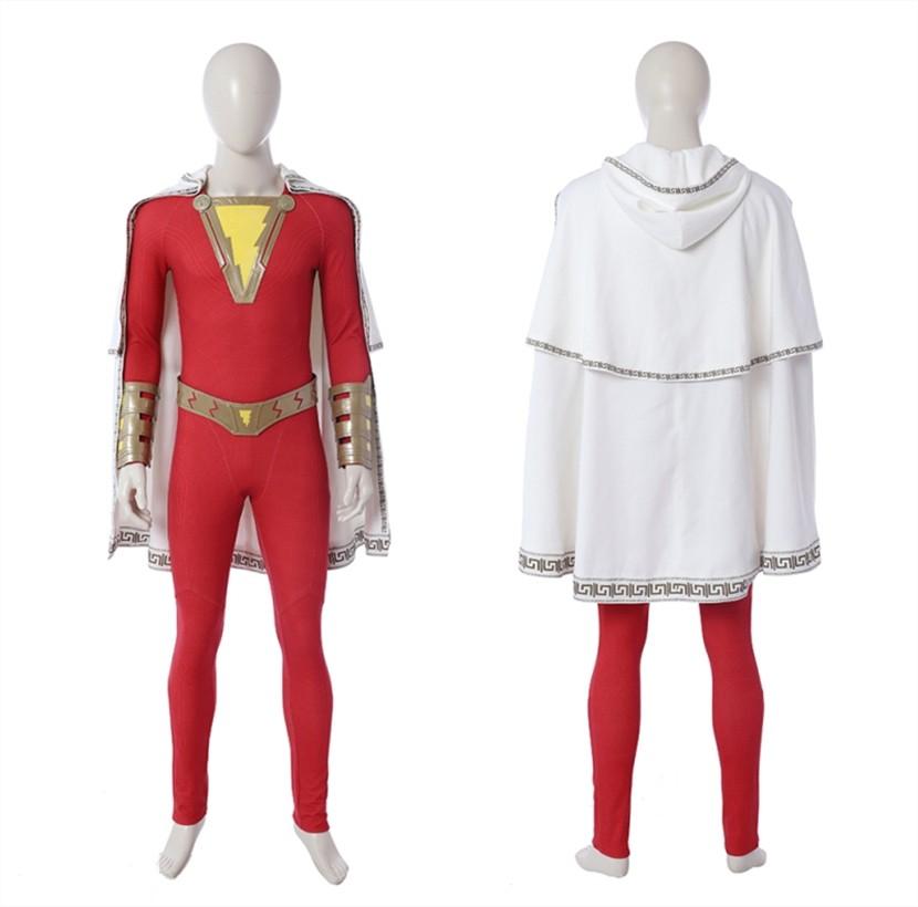 2019 Movie Shazam Costume Billy Batson Cosplay Costume