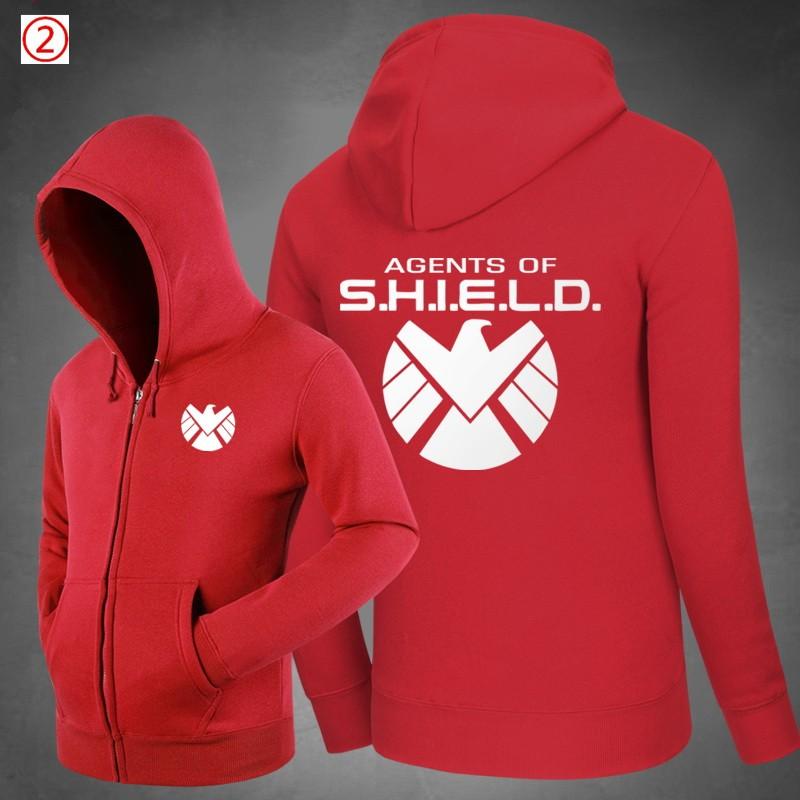 Agents of S.H.I.E.L.D.Logo Warm Zipper Hoodies