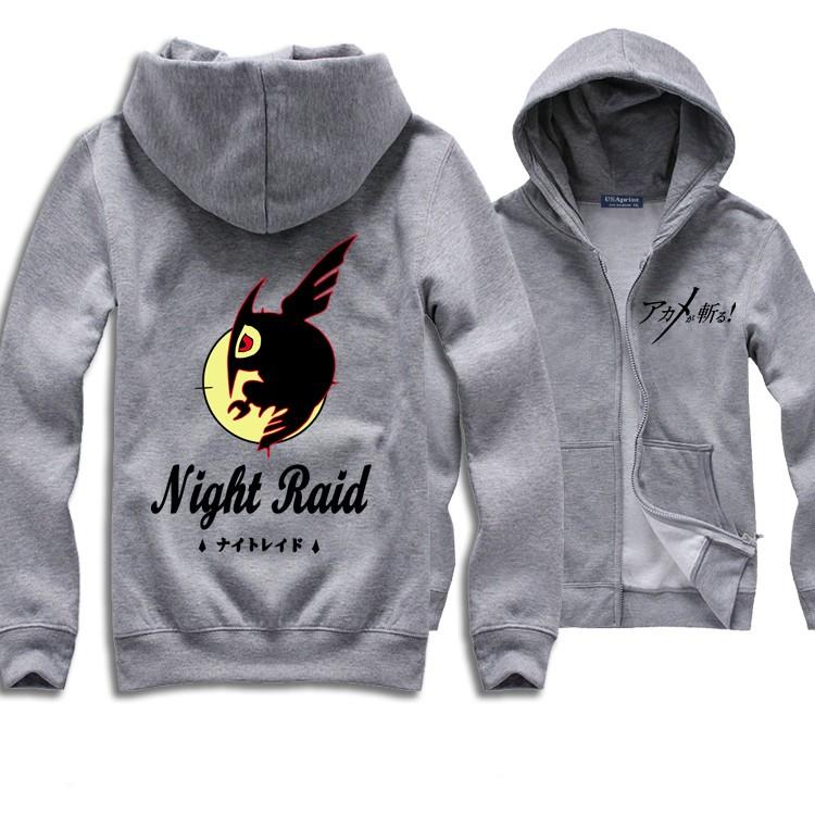 Akame Ga Kill! Night Raid Logo Zip Hoodies