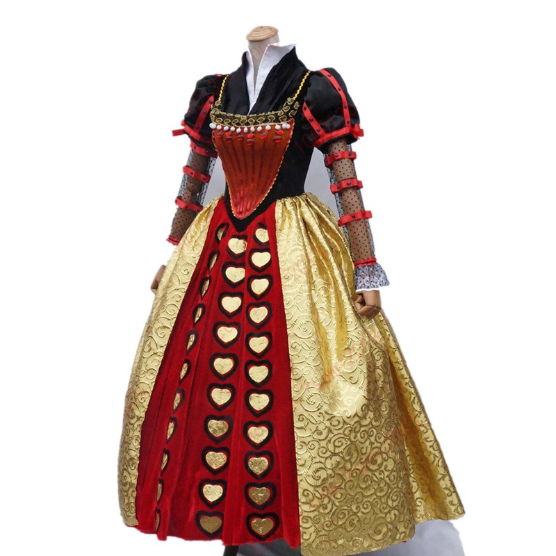 Alice In Wonderland Cosplay Red Queen Dress Costume