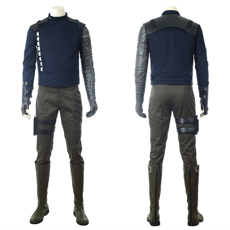 Avengers Infinity War Winter Soldier Cosplay Costume Deluxe Outfit