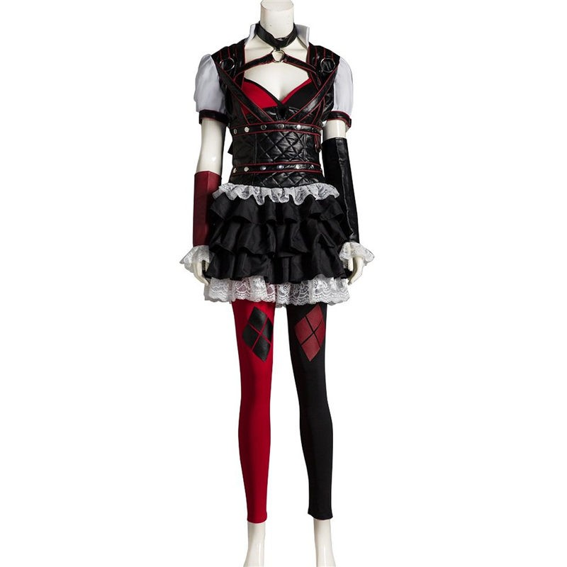 Arkham Asylum Harley Quinn Cosplay Outfit Costume
