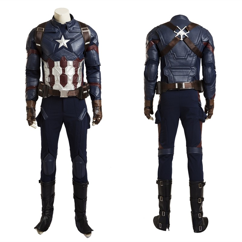 Civil War Captain America Cosplay Costume - Deluxe Version