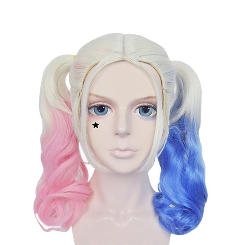 DC Comics Suicide Squad Harley Quinn Cosplay Wigs