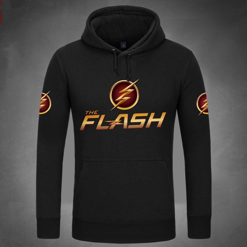 DC Super Hero The Flash Logo Pullover Hoodies