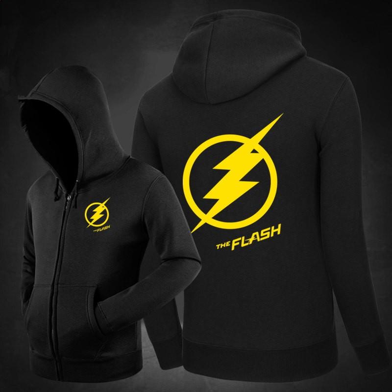 DC The Flash Star Logo Zipper Hoodies