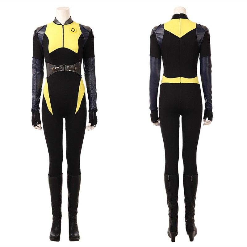 Deadpool 2 Negasonic Teenage Warhead Cosplay Costume Ellie Phimister Jumpsuit