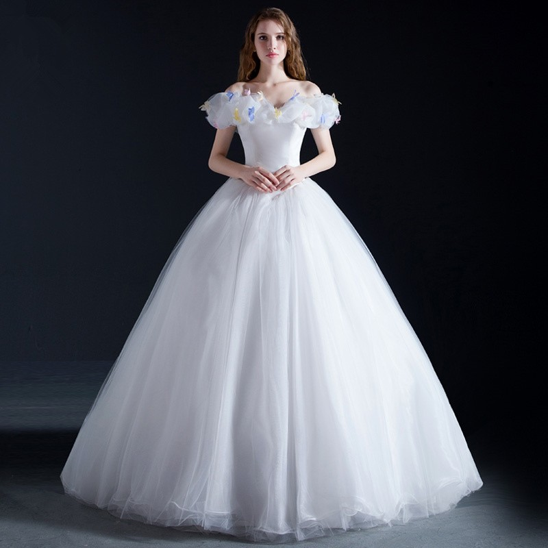 Disney Cinderella Wedding Red White Dress Cosplay Costumes - Deluxe Version