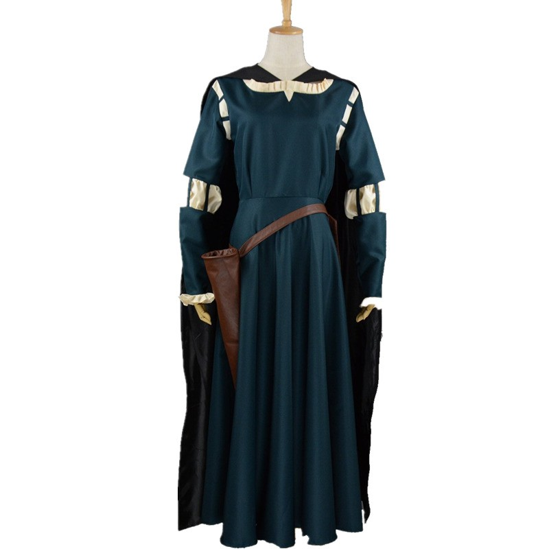 Disney Brave Princess Merida Dress Cosplay Costume Gown Outfit - Deluxe Ver