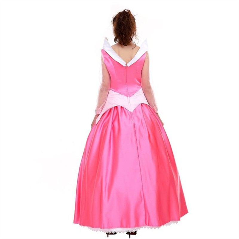Disney Sleeping Beauty Aurora Princess Pink Dress Cosplay Costume