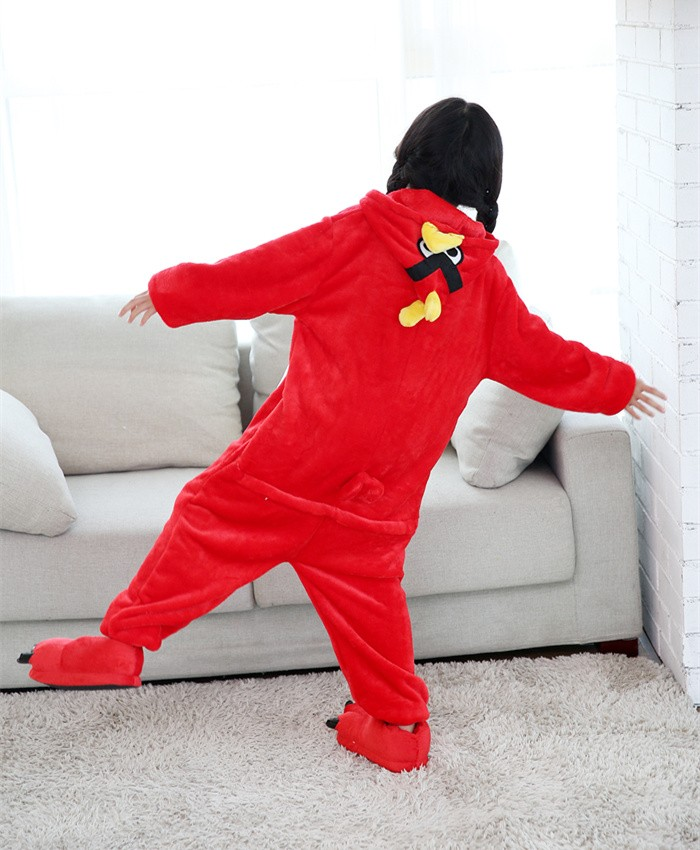 Bird Onesies Pajamas Flannel Children Kigurumi Onesies Winter Animal Pajamas For Kids