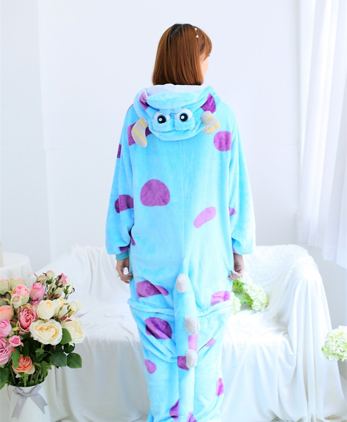 Monster Sulley Sullivan Onesies Pajamas Unisex Flannel Kigurumi Onesies Winter Animal Pajamas For Adults