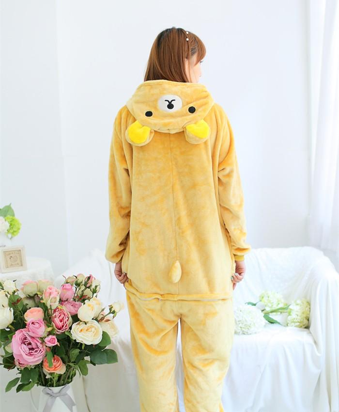 Rilakkuma Onesies Pajamas Unisex Flannel Kigurumi Onesies Winter Animal Pajamas For Adults