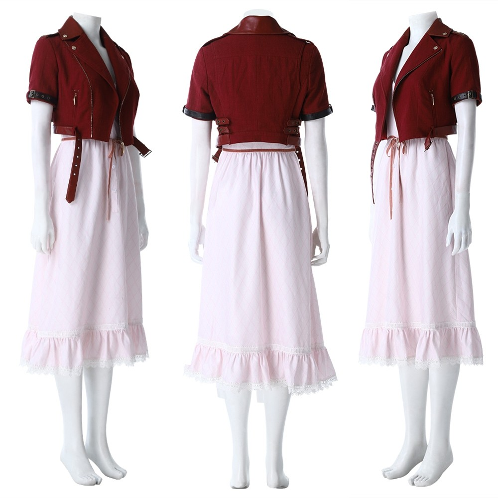 Final Fantasy VII Remake Aerith Cosplay Dress Costume