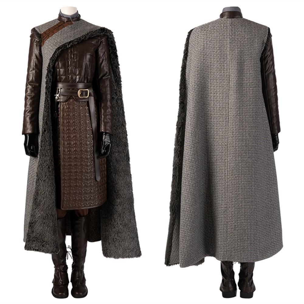 Game of Thrones 8 Arya Stark Cosplay Costume Deluxe Version