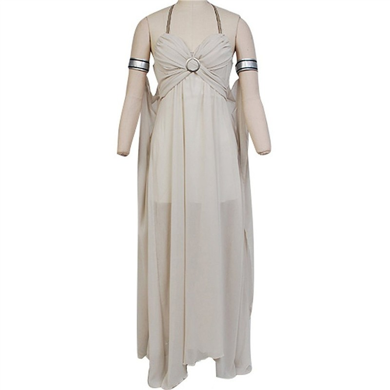 Game of Thrones Daenerys Targaryen Grey Dress Cosplay Costume