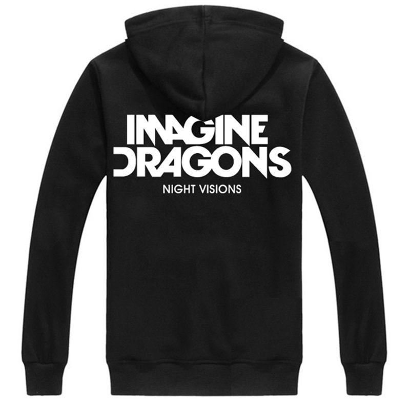 Imagine Dragons Night Visions Zipper Hoodies