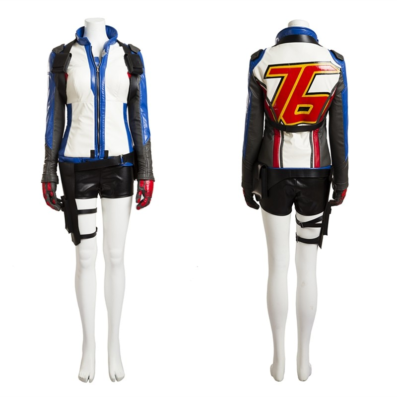Overwatch Female Soldier 76 Cosplay Costume