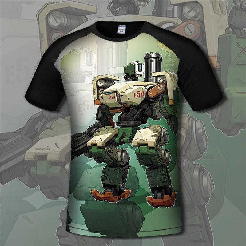 Overwatch Bastion 3D Print Men T-Shirts Tee Shirt