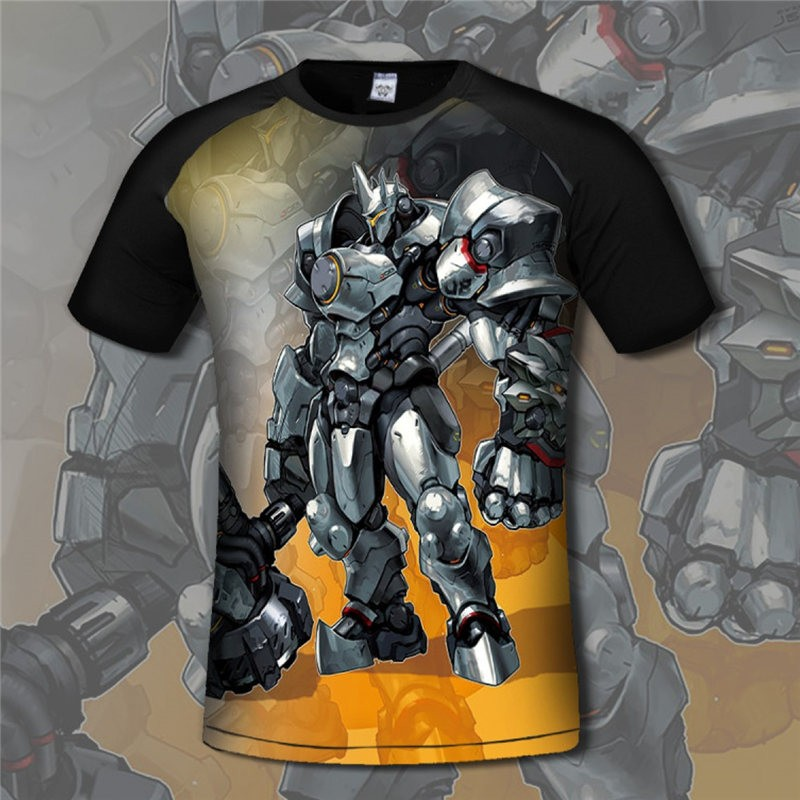 Overwatch Reinardt 3D Print Men T-Shirts