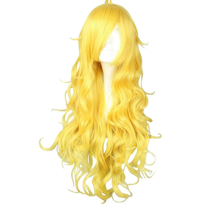 RWBY Yellow Trailer Yang Xiao Long long Blonde Hair Cosplay Wigs