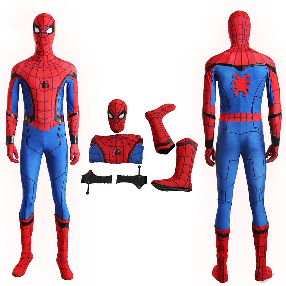 Spider Man Homecoming Spiderman Costume Deluxe Cosplay