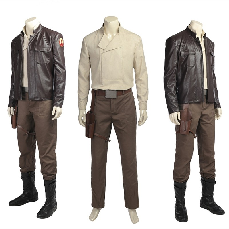 Star Wars 8 The Last Jedi Poe Dameron Cosplay Costume