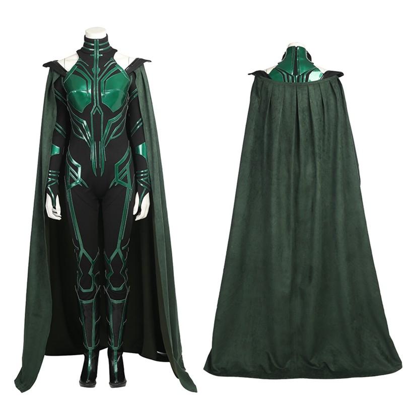 Thor Ragnarok Hela Cosplay Costume Deluxe Jumpsuit