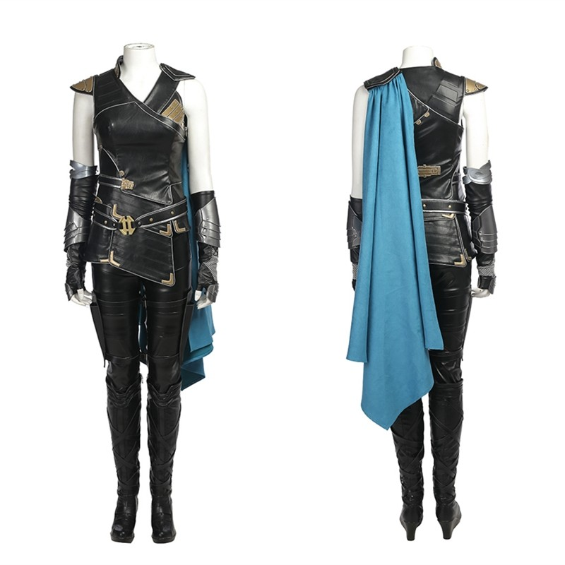 Thor Ragnarok Valkyrie Cosplay Costume Deluxe Outfit