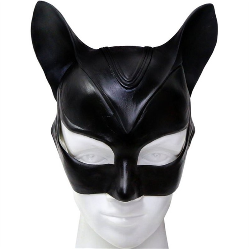 Catwoman Latex Mask Halloween Cosplay Mask