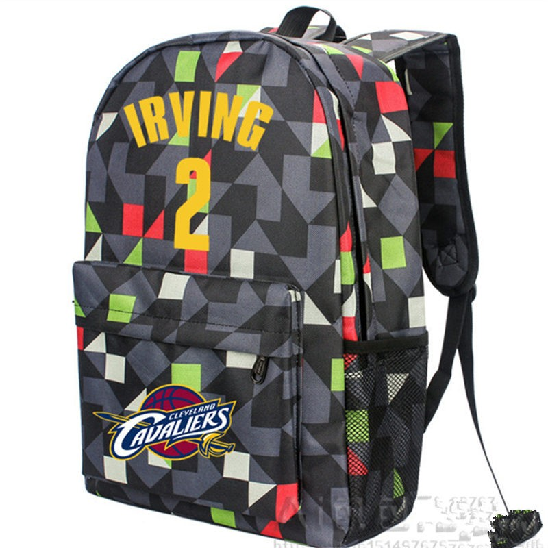 Timecosplay Cleveland Cavaliers Kyrie Irving 2 lattice Backpack School Bag