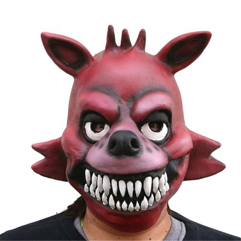 TimeCosplay Five Nights at Freddy's Fox Foxy Cosplay Latex Mask Halloween