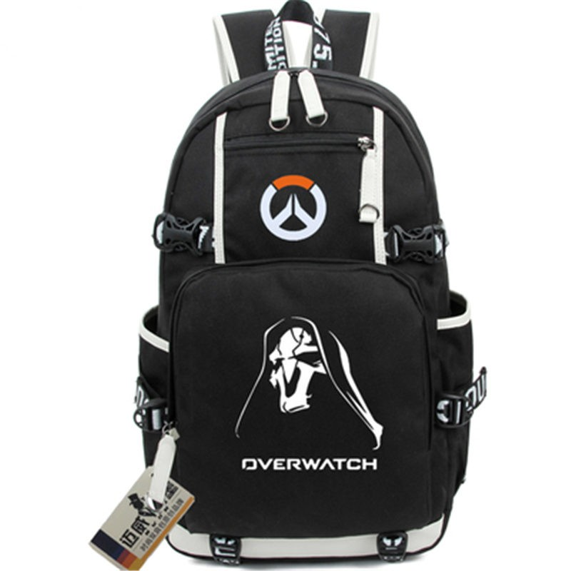 Timecosplay Overwatch Reaper Icon Logo Cartoon Bag Backpack