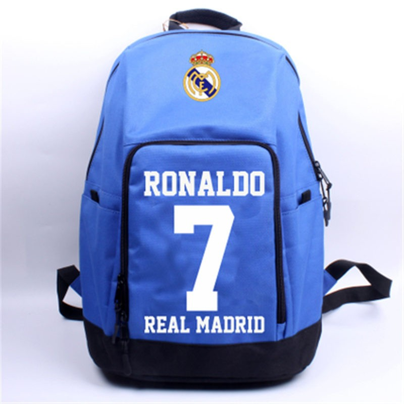 Timecosplay Real Madrid Ronaldo Celebrate 7 Schoolbag Backpack