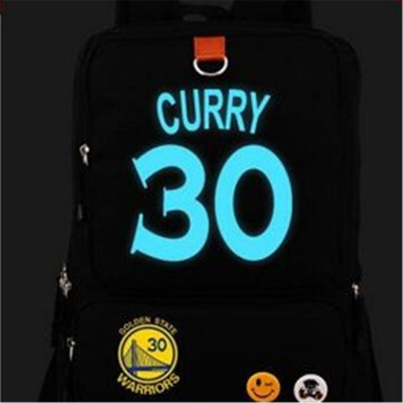 Timecosplay Warriors Stephen Curry 30 Noctilucence Shoulders Bag Schoolbag