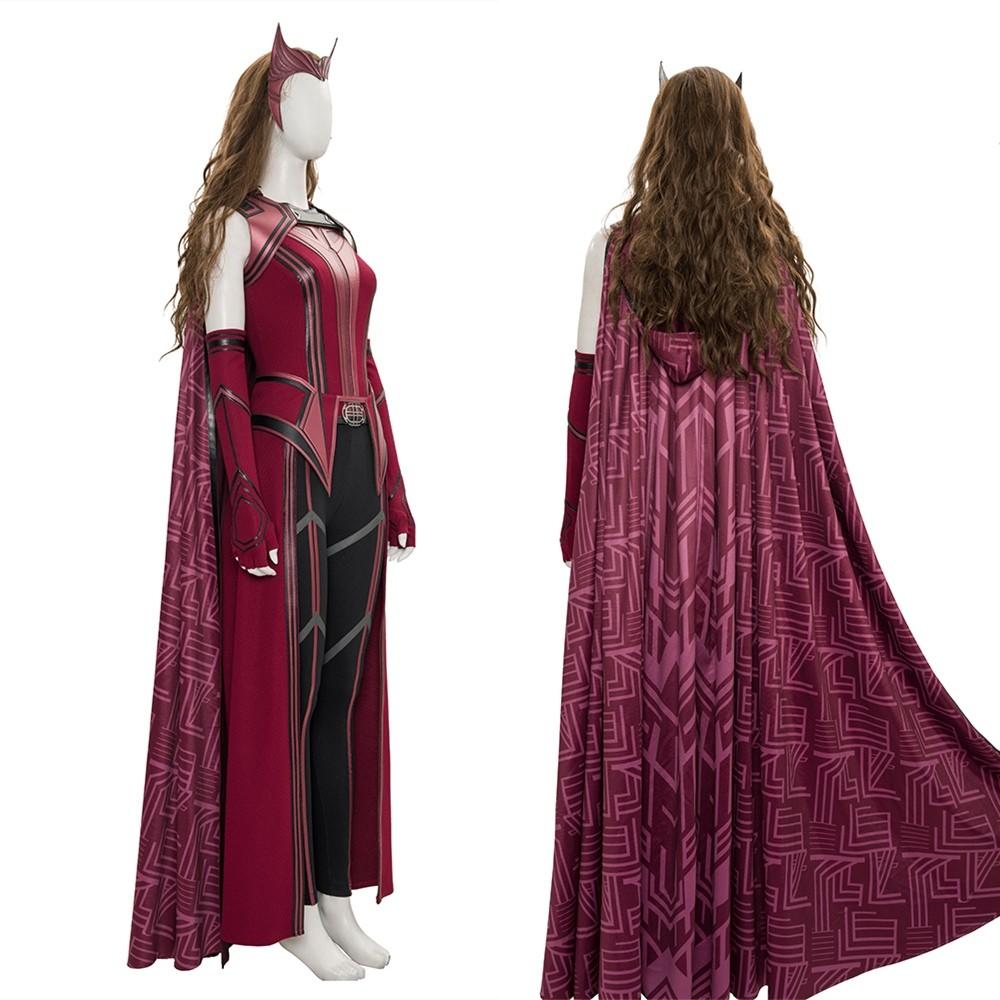 WandaVision Scarlet Witch Wanda Cosplay Costume Deluxe