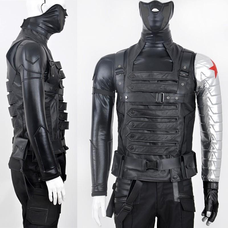 Winter Soldier Cosplay Costume Bucky Barnes Costume - Deluxe Version