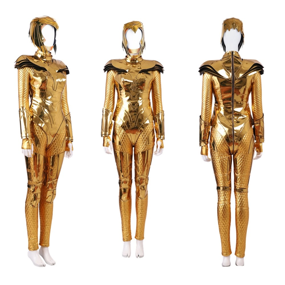 Wonder Woman 1984 Wonder Woman Cosplay Costume Golden Version