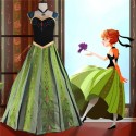 Disney Frozen Anna Coronation Dress Cosplay Costumes