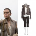 Star Wars 8 The Last Jedi Rey Cosplay Costume Outfit