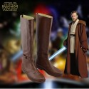 Star Wars Jedi Obi-Wan Kenobi Cosplay Shoes Brown Boots Custom Made