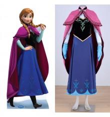 Disney Princess Frozen Anna Cloak Dress Cosplay Costume