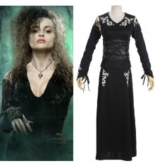 Harry Potter Cosplay Bellatrix Lestrange Black Dress Costume