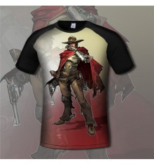Overwatch McCree 3D Short Sleeve T-shirt