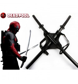 Marvel Deadpool Cosplay Backpack Swords Set Props